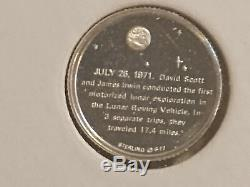 America in Space Mini Coin Collection 1977 Franklin Mint Sterling Silver NASA