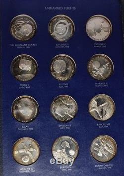 America in Space Sterling Silver Franklin Mint Art Medals Album