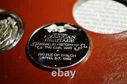 American Heritage Medallic History Civil War Silver Set Album 34 Sterling Coins