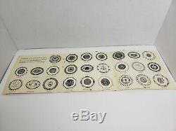 Antique English Sterling Silver Miniature Plate Collection by Franklin Mint 1981