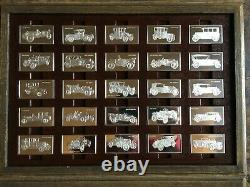 Awesome 100 Pc. Sterling Silver Centennial Car Ingot Collection Set Franklin Mint