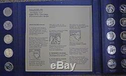 BJSTAMPS 1970 Franklin Mint 50 States of Union 23 Toz Sterling silver in book