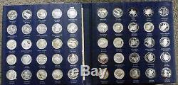 BJSTAMPS 1970 Franklin Mint 50 States of Union 23 oz Sterling silver in book