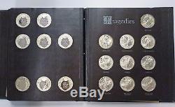 BJSTAMPS Franklin Mint SHAKESPEARE 38 Proof MEDALS 50 Troy oz Sterling silver