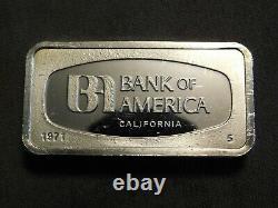 Bank Of America Sterling Silver Art Bar. 925 66 Grams Rare