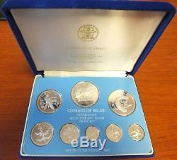 Belize 1975 Proof Coin Set Sterling Silver Franklin Mint Collector's AM568