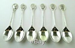 Boxed Set of Royal Horticultural Society Sterling Silver English Flower Spoons