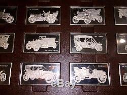 COMPLETE Franklin Mint Centennial Automobile Car Ingot Set Sterling Silver 208OZ