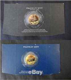 Captain Cook Medals by the Franklin Mint 24ct Gold on. 925 Sterling Silver Coins