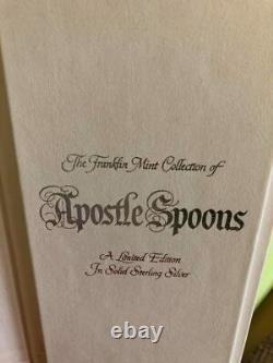 Catholic Franklin Mint Sterling Silver APOSTLE SPOONS in Case withHistory Story