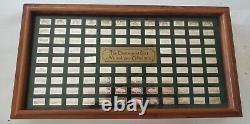 Collector Car Classics 100 Sterling Silver Ingots Franklin Mint Not Scrap Case