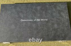 Complete Set 63 Sterling Silver Franklin Mint Gemstones Of The World Box Set