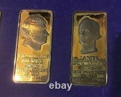 Danbury Mint Presidential 24karat Gold Plated Sterling Silver One Ounce Ingots