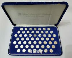 Declaration of Independence Sterling Silver Mini-Coin Collection Franklin Mint