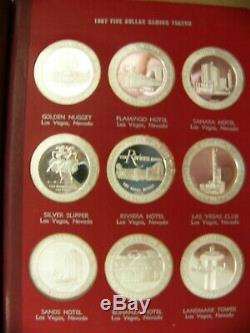 FRANKLIN MINT 1967 Set Of 36 Sterling Silver Full Proof DOMESTIC GAMING TOKENS
