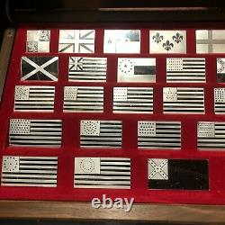 FRANKLIN MINT GREAT FLAGS OF AMERICA STERLING SILVER FULL SET OF 42 #38e