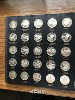 FRANKLIN MINT STERLING SILVER STATES OF THE UNION-50 PROOF MEDALS 22.50 Troy Oz