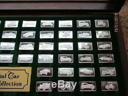 FRANKLIN MINT The Centennial Car Mini-Ingot Collection STERLING SILVER Set Case