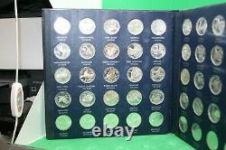 First Edition Franklin Mint States of the Union Sterling Silver Medal Series