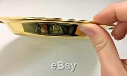 First Franklin mint annual Gold Plated on Sterling Silver Dish