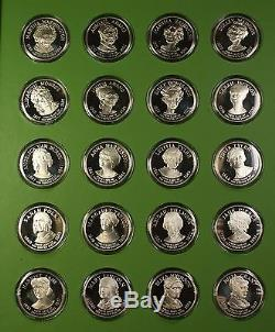 First Ladies of the U. S. Franklin Mint Proof Solid Sterling Silver 40 Medal Set