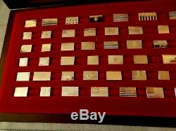 Flags of the American Revolution Franklin Mint Mini Sterling Silver Set Of 64