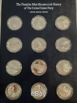 Franklin MInt Bicentennial History of the US Navy 22 sterling silver proof round