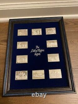 Franklin Mint 10 Sterling Silver Bill Of Rights Ingots