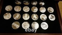 Franklin Mint 100 Greatest Masterpieces Stirling Silver Medal/Coin Collection