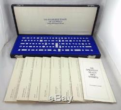 Franklin Mint 100 Piece GREATEST STAMPS OF THE WORLD STERLING SILVER with Case