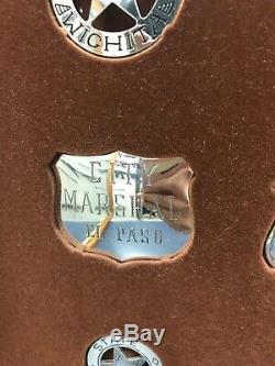 Franklin Mint 12 Sterling Silver Western Lawmen Museum Repro Badges in Wood Case