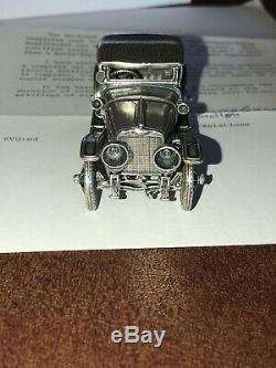 Franklin Mint 1912 Hispano Suiza Sterling Silver Miniature Car