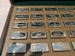 Franklin Mint 1971 Bank Marked 50 Sterling Silver Ingot Collection in Case