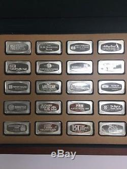 Franklin Mint 1971 Proof Set of 50 bank marked Sterling Silver Ingots