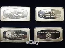 Franklin Mint 1972 Bank Ingots. 925 Solid Sterling Silver 925 Bars Bullion 104oz