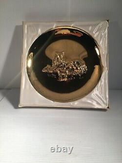 Franklin Mint 1972 Mothers Day 18 Kt Gold Plated On Solid Sterling Silver