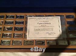 Franklin Mint 1972 Proof Set of 50 BankMarked Sterling Silver Ingots