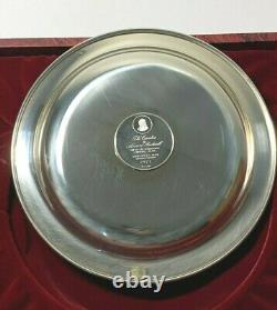 Franklin Mint 1972 Rockwell 7.2oz Sterling Silver Christmas Plate The Carolers