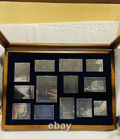 Franklin Mint 1976 Bicentennial 13 Colony Colonial Currency Sterling Silver Set