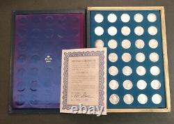 Franklin Mint 35 Silver Treasury of Presidential Commemorative Medals ASW 7.8 oz