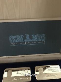 Franklin Mint (36) Sterling Silver 5000 Grain Presidential Ingot Set 31 Troy Lbs