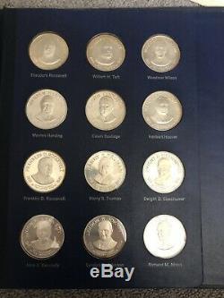 Franklin Mint 37.5 Troy Oz 36 Sterling Silver Presidential Medals