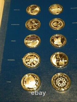 Franklin Mint 50 Ounces Sterling Silver 1976 Bi-Centennial Medals Complete