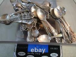 Franklin Mint 50 STATE FLOWER Sterling Silver Collectors Mini Salt Spoons