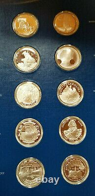 Franklin Mint 50 State Bicentennial Medal Collection Solid Sterling Silver
