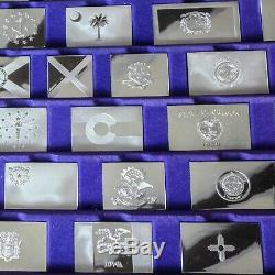 Franklin Mint 50 State Flag Sterling Silver Ingots
