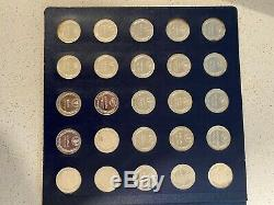 Franklin Mint 50 States Series. 925 Sterling Silver Coin Set14.7 gms each coin