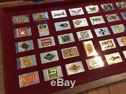 Franklin Mint 50 Sterling Silver Ingot Bar Set Emblems of the American Railroads