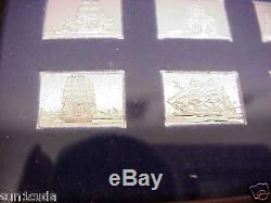 Franklin Mint 50 Sterling silver the Great SailingShips mini Ingots nice display