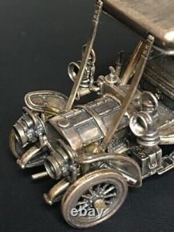 Franklin Mint 925 Sterling Silver 1903 Fiat Miniature Car 143 Scale